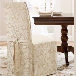 Two Damask Scroll chair covers